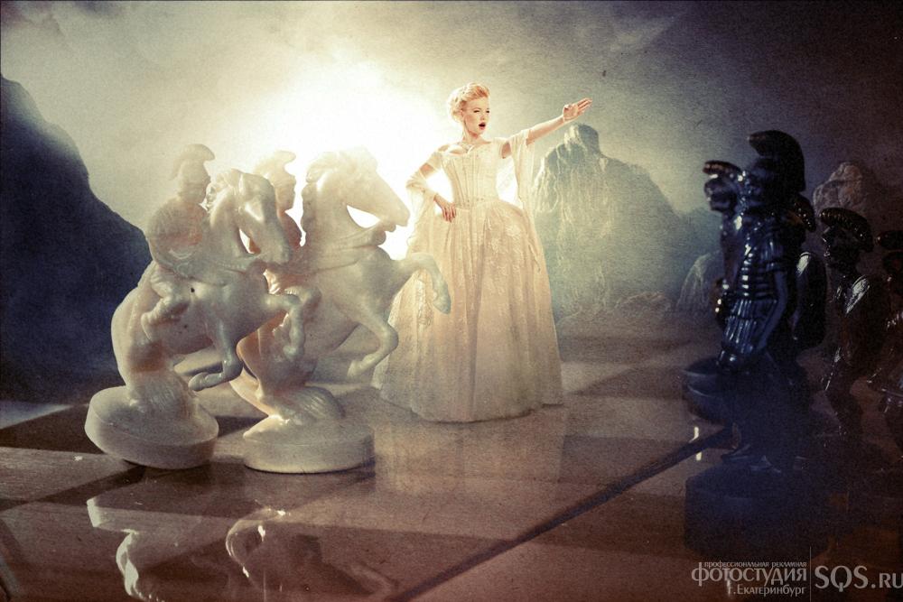 """Фотосессия Дарьи - """"Шахматная королева"""", Портреты, Фотосессии, Фотостудия SQS, Екатеринбург."""