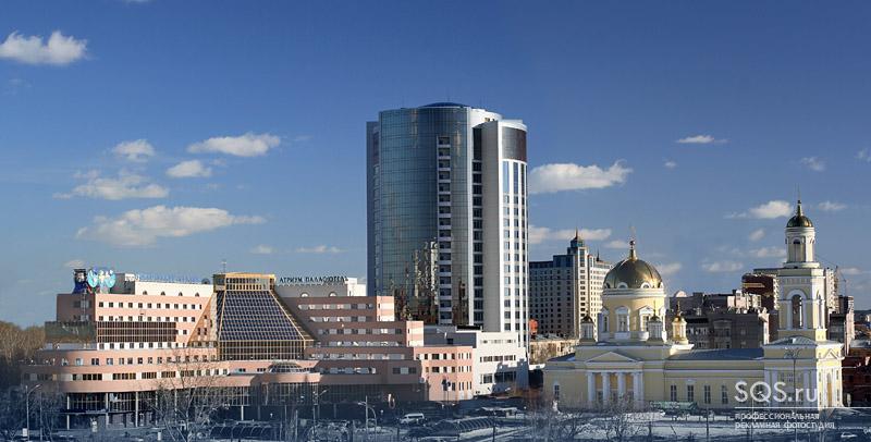 Панорамная фотосъемка отеля и бизнес-центра, Архитектура, Рекламная фотосъемка, Фотостудия SQS, Екатеринбург.